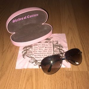 Juicy Couture aviator sunglasses